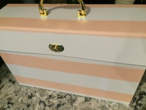 BEFORE Monogrammed File Holder - DIY with Vinyl using a Cricut Explore