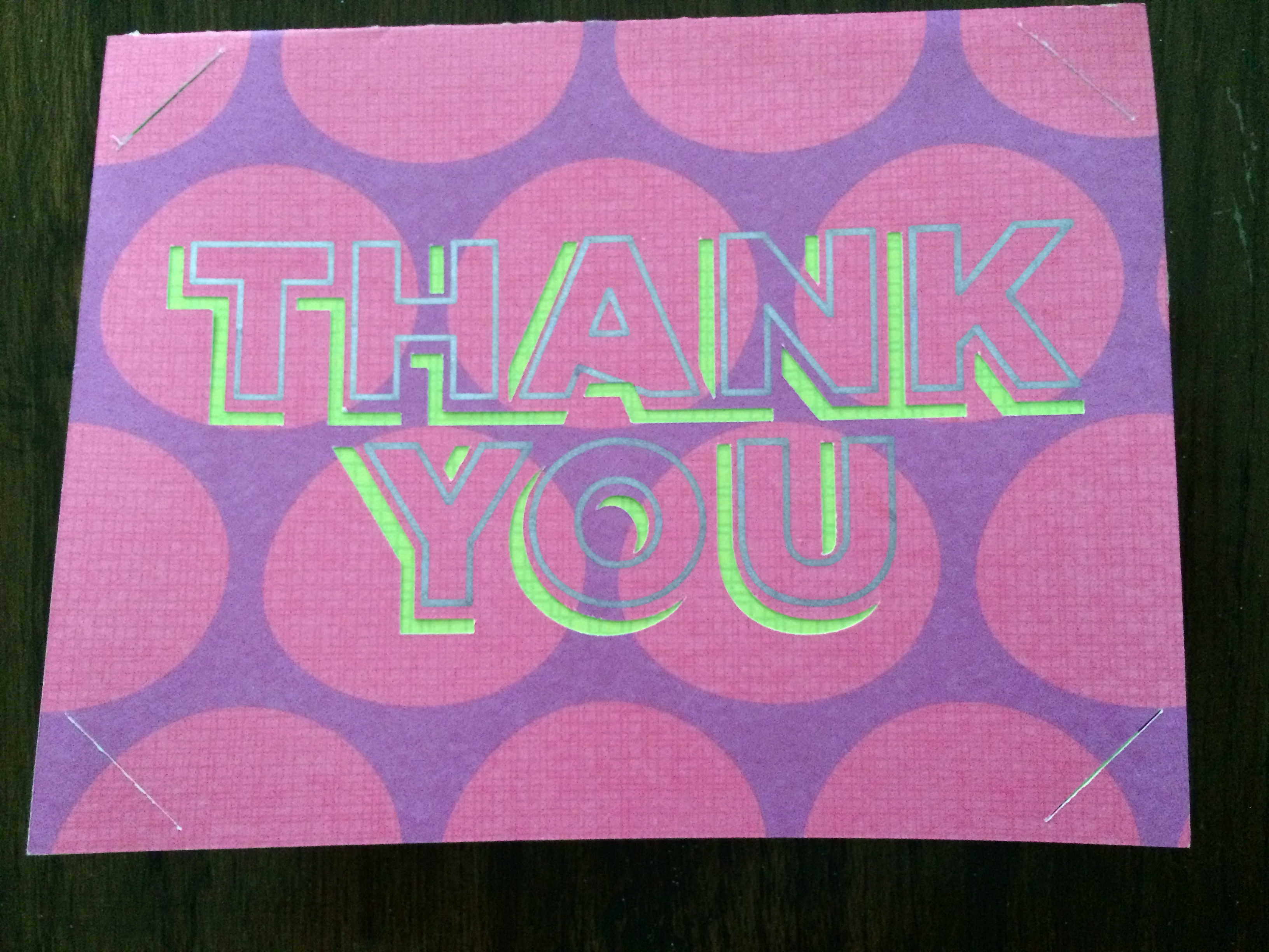 Cricut Thank You Card - DIY with a Cricut Explore
