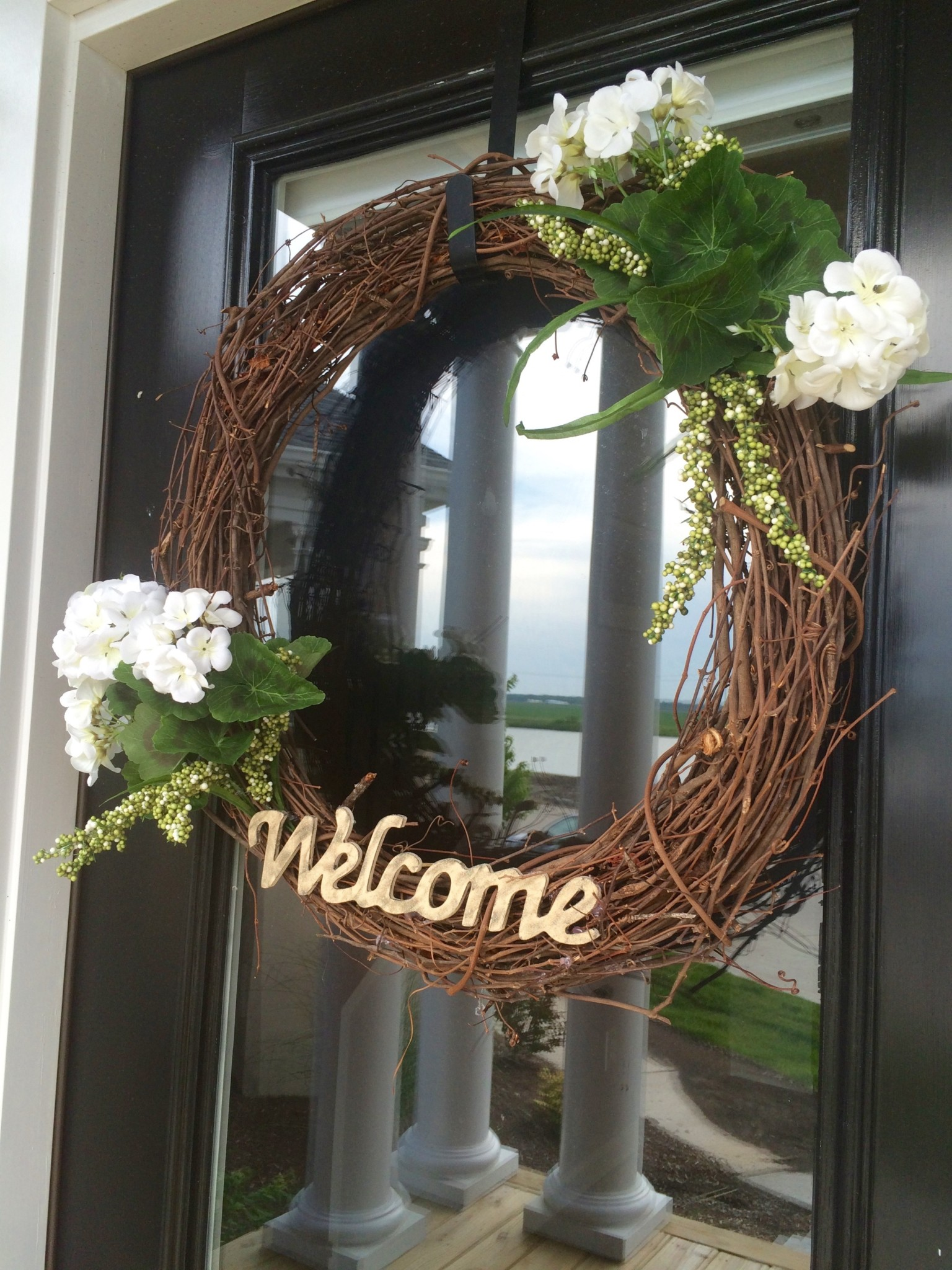 Welcome Wreath Door