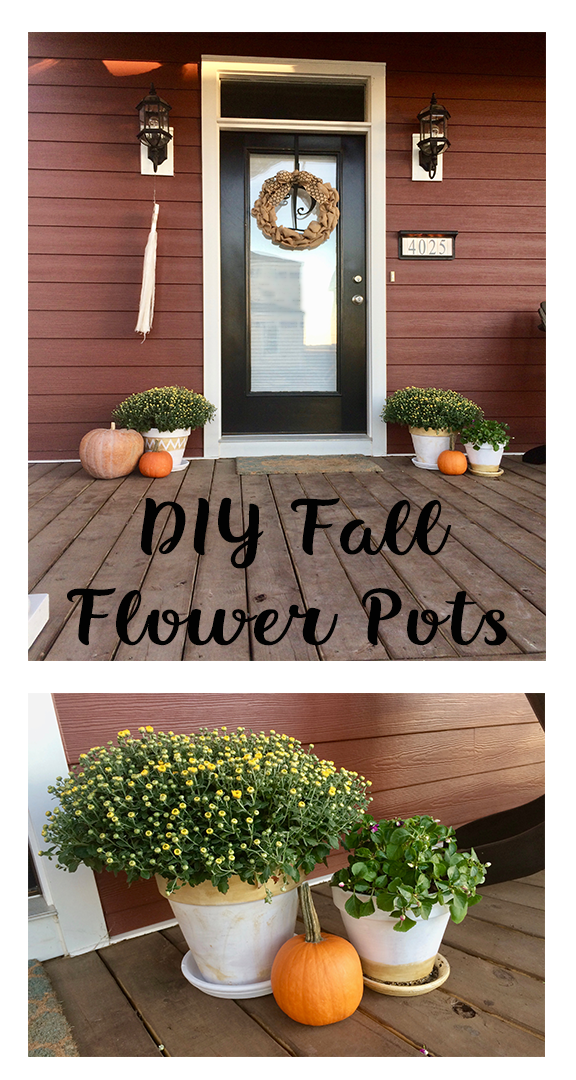 DIY Shabby Chic Flower Pots