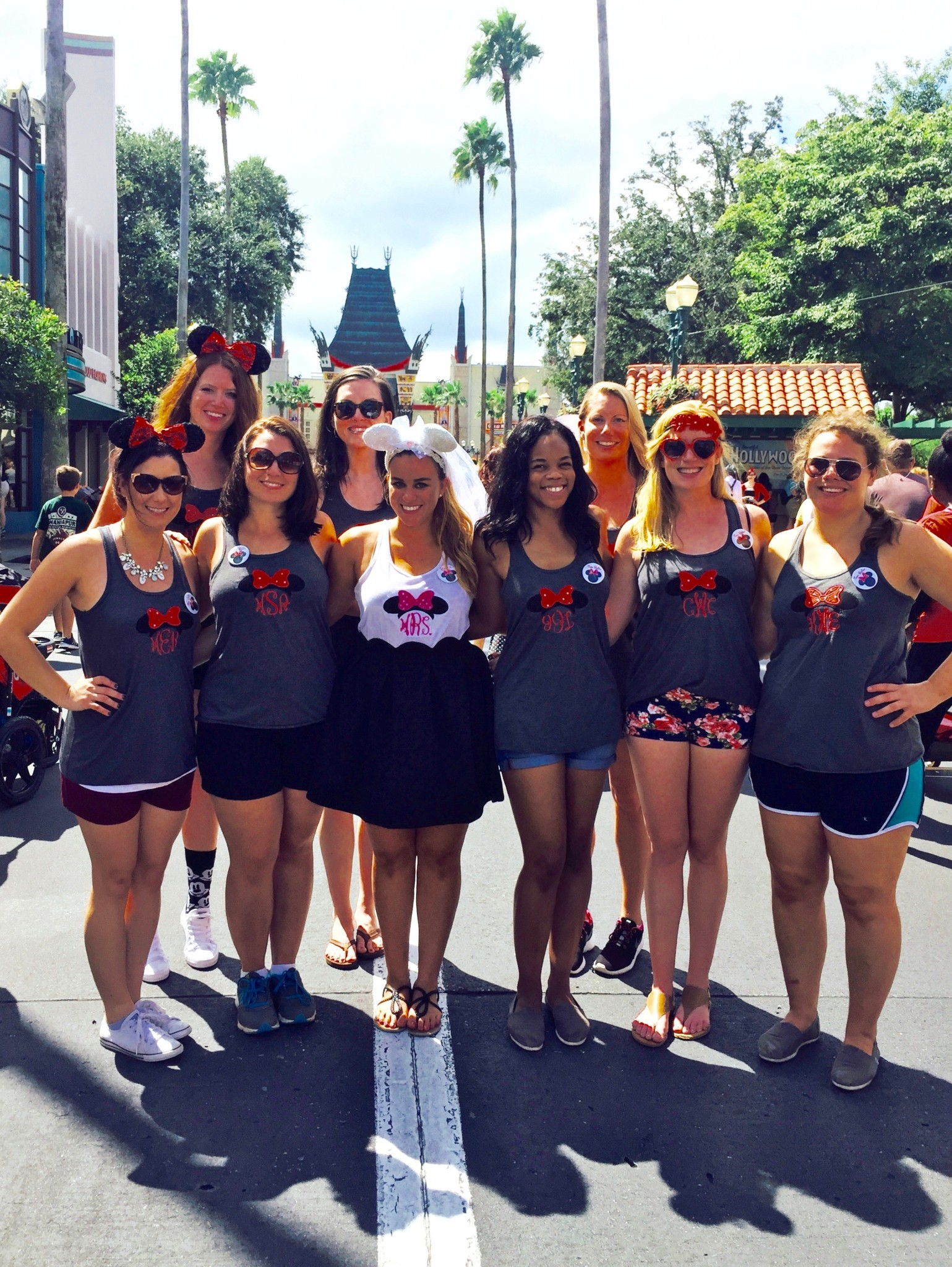 Walt Disney World Bachelorette Party Monogrammed Tank Tops