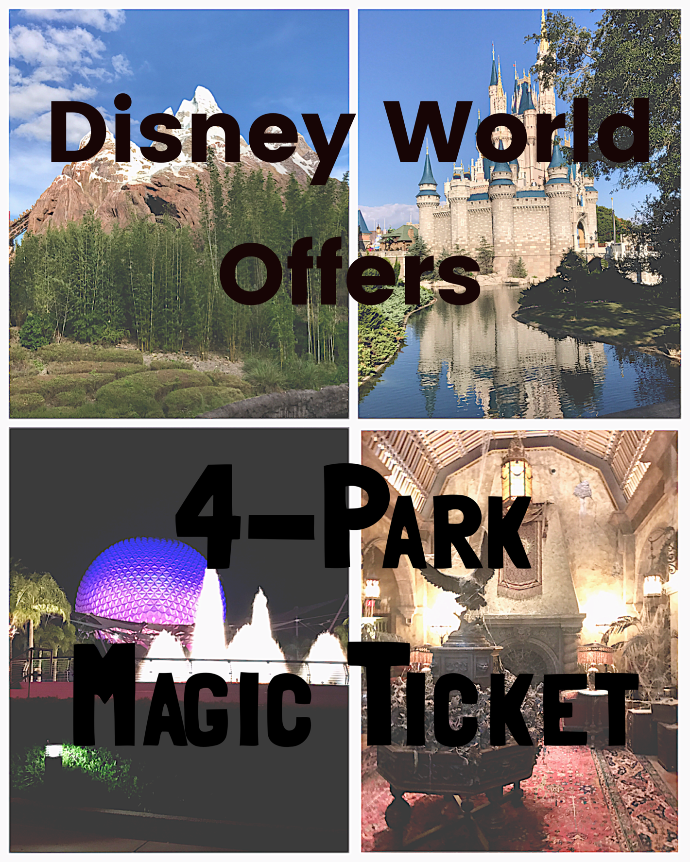 Find Out More about the New Walt Disney World 4-Park Magic Ticket Offer